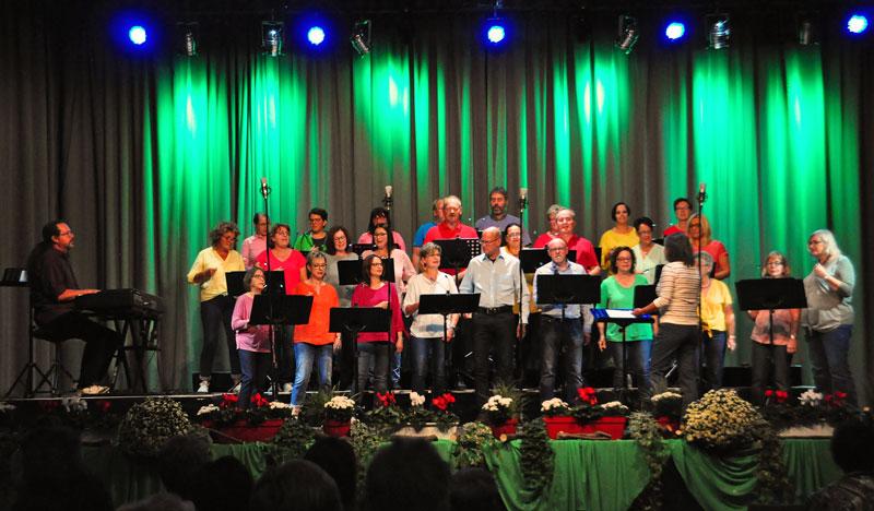 Bild des Chors total vokal in der Bibrishalle Herbrechtingen